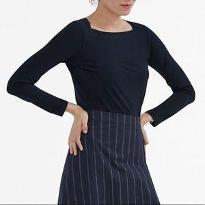 MM Lafleur The Bee Shirt Navy Blue Long Sleeve XL